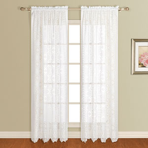 New Rochelle White 63 x 56 In. Curtain Panel