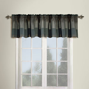 Plaid Taupe and Brown  18 x 54 In. Topper