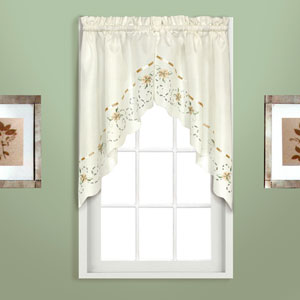 Rachael Taupe 30.5 x 60 In. Split Swag Pair, Set of Two