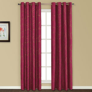 Sinclair Burgundy 63 x 54 In. Curtain Panel