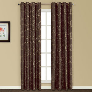 Sinclair Chocolate 63 x 54 In. Curtain Panel