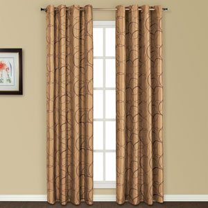 Sinclair Taupe 63 x 54 In. Curtain Panel
