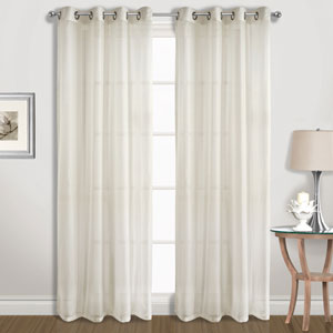 Special Natural 63 x 104 In. Curtain Panel Set, Set of Two