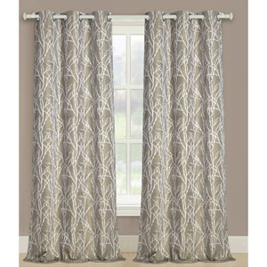 Taylor Gold 63 x 76 In. Curtain Panel Set, Set of Two