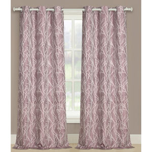 Taylor Plum 63 x 76 In. Curtain Panel Set, Set of Two