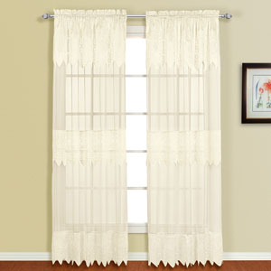 Valerie Natural 63 x 52 In. Curtain Panel Set, Set of Two