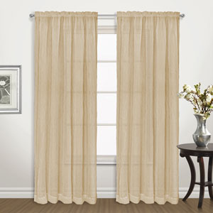 Venice Gold 63 x 50 In. Curtain Panel Set, Set of Two