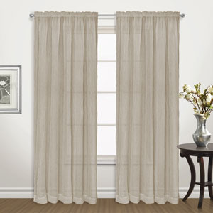 Venice Taupe 63 x 50 In. Curtain Panel Set, Set of Two
