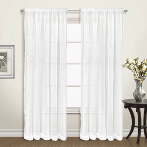 Venice White 63 x 50 In. Curtain Panel Set, Set of Two