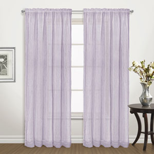 Venice Amethyst 72 x 50 In. Curtain Panel Set, Set of Two