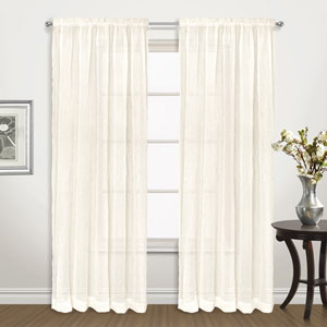 Venice Natural 72 x 50 In. Curtain Panel Set, Set of Two