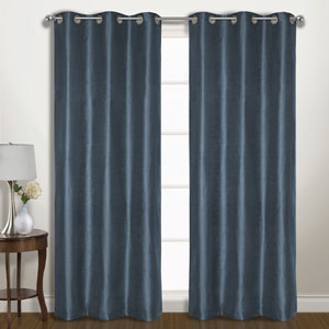Vintage Blue 63 x 74 In. Curtain Panel Set, Set of Two