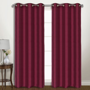 Vintage Burgundy 63 x 74 In. Curtain Panel Set, Set of Two