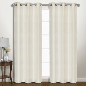 Vintage Ivory 63 x 74 In. Curtain Panel Set, Set of Two