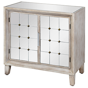 Gray Cabinet with Mirror Top