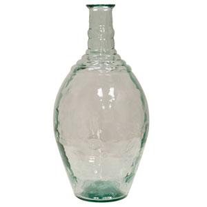 Clear Rippled Decorative Glass Jug