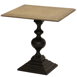 Gray Colorado Square Top and Round Pedestal Base End Table