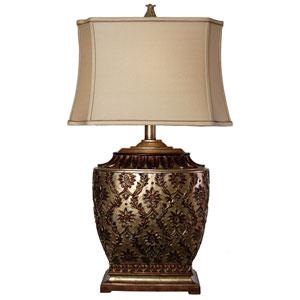 Jane Seymour Antique Platinum One-Light Table Lamp
