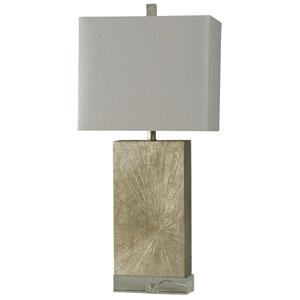 Jane Seymour Silver Wood One-Light Table Lamp