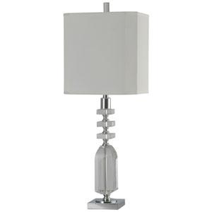 Jane Seymour Crystal/Chrome One-Light Table Lamp