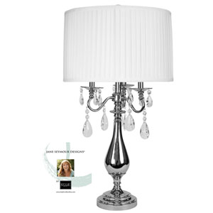 Jane Seymour Plated Nickel One-Light Table Lamp