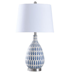Marissa Off-White and Blue 28-Inch One-Light Table Lamp