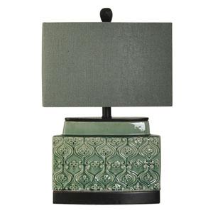 Springfield Green Glaze One-Light Table Lamp