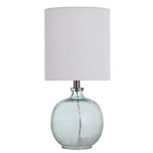 Light Aqua Blue 20-Inch One-Light Table Lamp