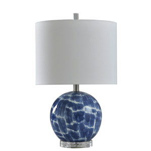 Blue and White 21-Inch One-Light Table Lamp