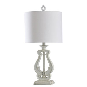 Robert Distressed White 27-Inch One-Light Table Lamp