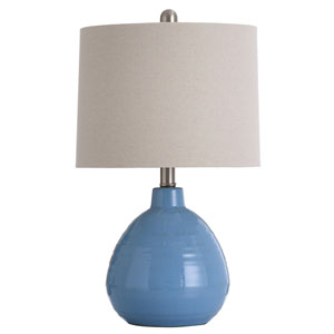 Ceramic Crashing Waves Blue 21-Inch One-Light Table Lamp