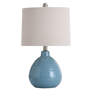 Ceramic Seaside Storm Blue 21-Inch One-Light Table Lamp