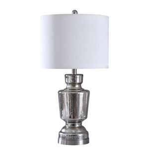 Trophy Mercury and Brushed Steel 27-Inch One-Light Table Lamp