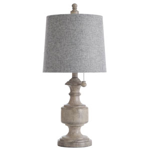 Gilda Distressed Gray and Cream 24-Inch One-Light Table Lamp