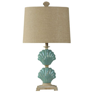 Light Blue One-Light 31-Inch Table Lamp
