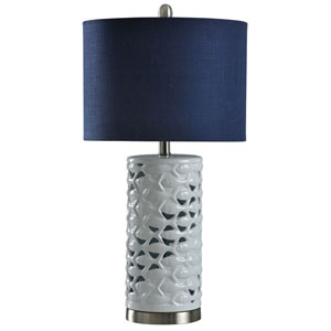 School of Fish Silver and Sand 27-Inch One-Light Table Lamp