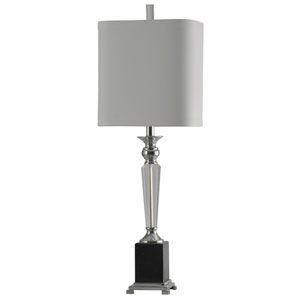 Black One-Light 34-Inch Table Lamp