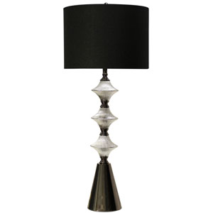 Silver and Black Chrome One-Light Table Lamp