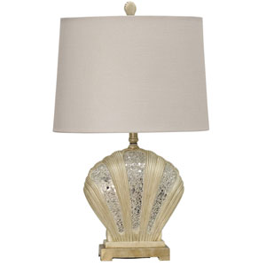 Beige One-Light 29-Inch Table Lamp