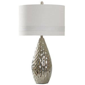 Silver One-Light Table Lamp