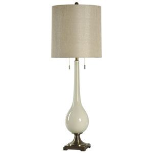 White One-Light 44-Inch Table Lamp
