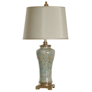 Blue and Gold One-Light Table Lamp