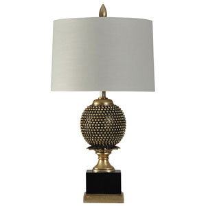 Black and Gold One-Light 34-Inch Table Lamp