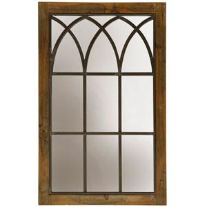 Natural Wood Farmhouse Wall Mirror