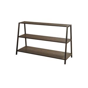 Antique Brass Three-Tier Leaner Shelf