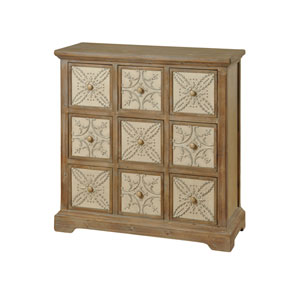 Natural Wood Nine-Drawer Apothecary Chest
