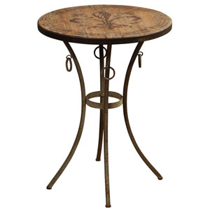 Antique Bronze Round Side Table