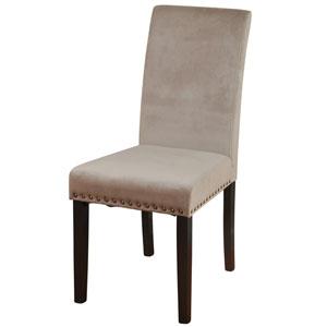 Dust Rose Velvet Silk Road Parson Dining Chair, Set of 2