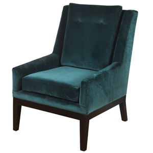 Teal Blue Silk Road Lounge Chair