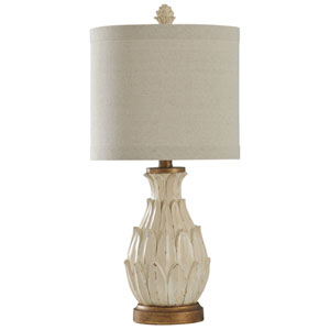 Mini Ardichoke Distressed Dark Brown and Aged Gold 23-Inch One-Light Table Lamp